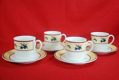 Villeroy & Boch LE SUD Cups & Saucers Set of 4 Olives
