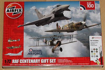 Airfix A50181 1:72 Bausatz-Set 'RAF Centenary Gift Set', 3 Flugzeuge mit Farben