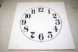 CLOCK DIAL NEW  WALL / MANTEL CLOCK PARTS 11 INCH IVORY COLOR DIAL ARABIC