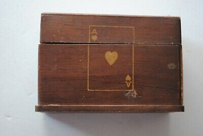 Vintage wooden  playing cards BOX