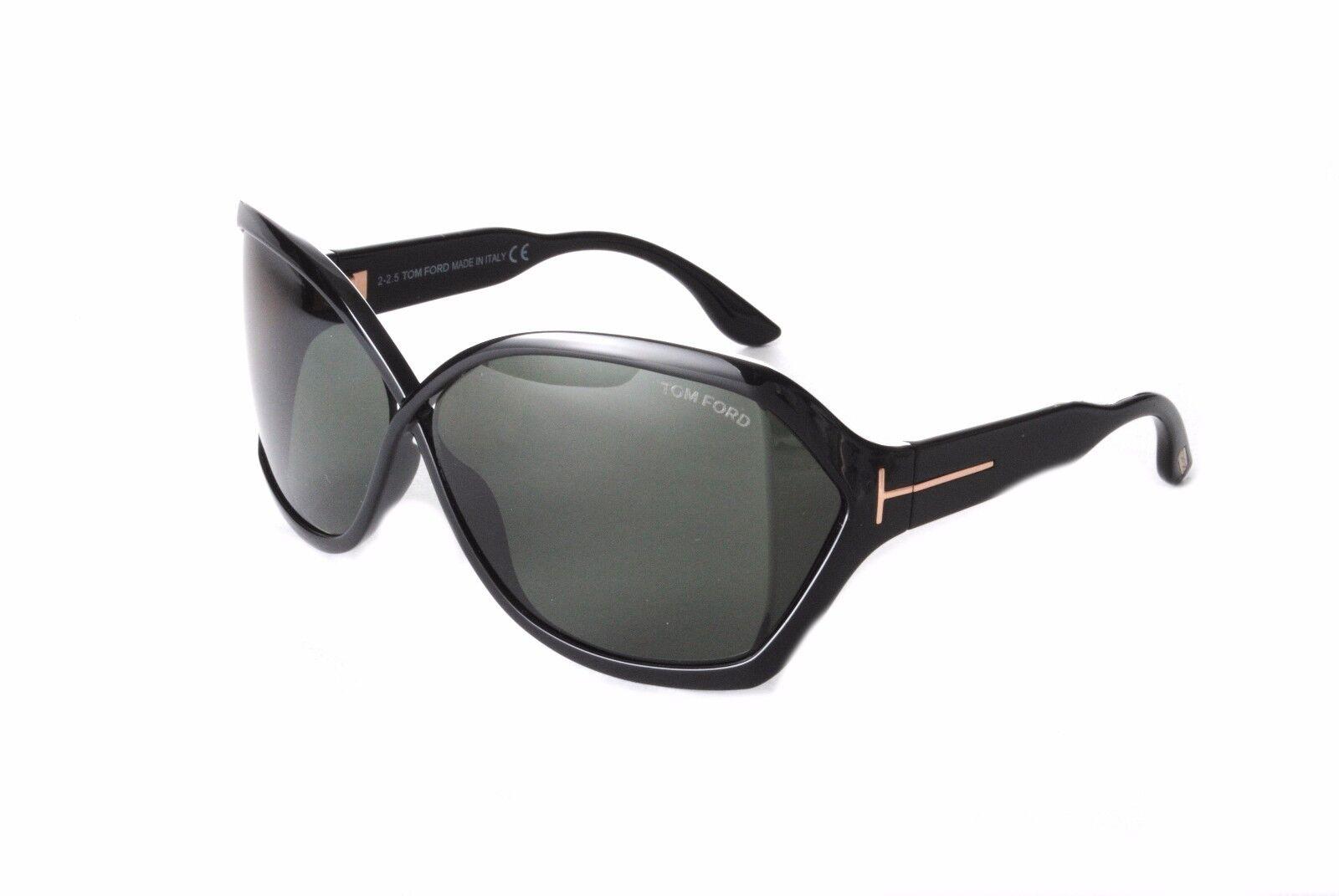 c3b84f35f8 Tom Ford Sunglasses FT0427 S 01N Julianne Black Green 664689717552 ...