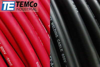 Welding Cable 10 200 100 Black 100 Red Ft Battery Leads Usa Gauge Copper Awg