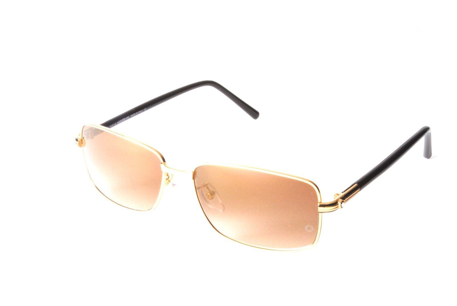 7edb5e5704 Mont Blanc MB503T S 30G Gold Brown Sunglasses
