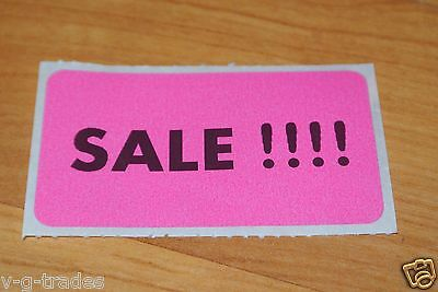 100 Pink Self-adhesive Sales Price Labels Stickers Tags Retail Store Supplies
