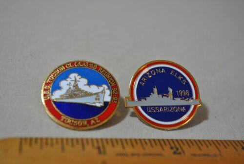 Lot 2 BPOE Elks Pins USS Arizona & USS Tucson!