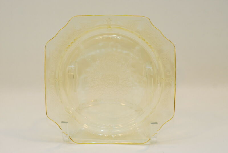 5 Hocking Princess Yellow Topaz 9 Inch Dinner Plate Plates