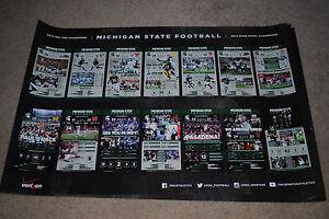 RARE 2013 Michigan State Spartans football poster MSU Dantonio 2014 ROSE BOWL
