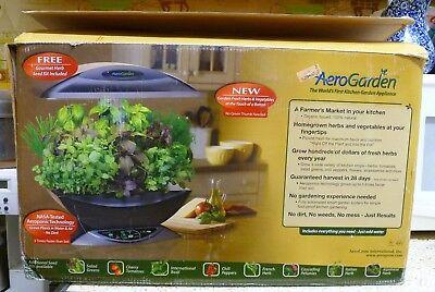 NEW/NIB AeroGrow AEROGARDEN Herb Garden, Model #100710-BLK