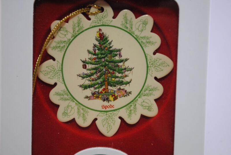 Spode Snowflake Shaped Ornament Christmas Tree Holiday