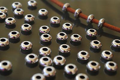 43 Bolas Zamak chatas planas (A.3mm) cuentas abalorios (B34-10) pulseras bola
