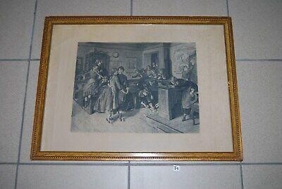 T1 Ancien estampe sous cadre - Emmanuel Spitzer ? Munchen 1887