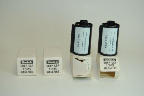 Kodak Snap-Cap 135 Magazines New ( 4 unid )