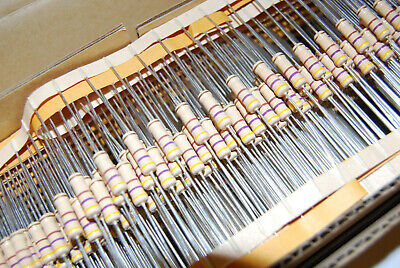 100pcs 470 Ohm 1w 5 Carbon Film Resistor Nos Usa Seller