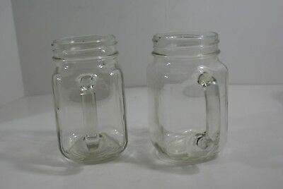 Mason Jar With Handle Mugs Rustic Bridal Wedding Drinking Glass 16 Oz Lot of 2