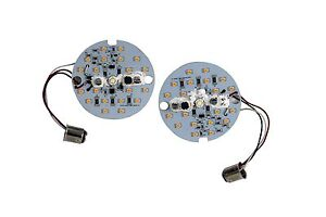 Front White Amber Dual LED Turn Signal Kit Harley Day Time Running Light