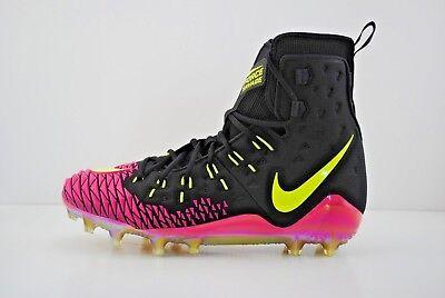 0afb540c820 Nike Force Savage Elite TD Football Cleats Size 14 Black Volt Pink 857063  076