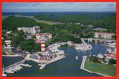 Harbour Town Hilton Head Island, South Carolina, Lighthouse, Boats --- Postcard