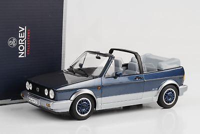 - 1992 Volkswagen VW Golf I Cabrio Cabriolet 1 Bel Air blau metallic 1:18 Norev  1