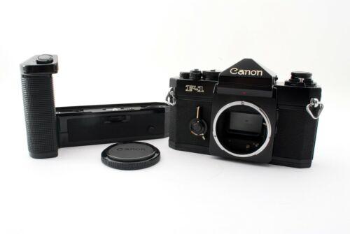 Canon F-1 35mm SLR MF Film Camera Black w/  Power Winder F [Exc++] from Japan