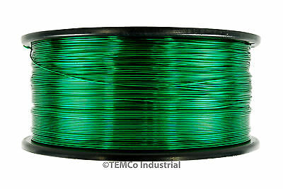 Temco Magnet Wire 40 Awg Gauge Enameled Copper 155c 1.5lb 47880ft Coil Green