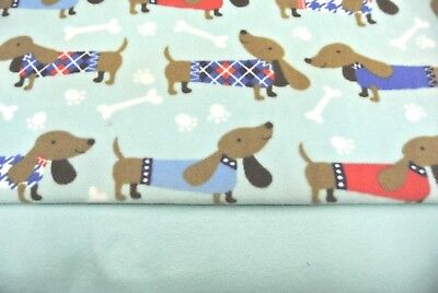Dog Blanket Dachshunds Doxies Sweaters Can Personalize Double Sided 28x22 Blue