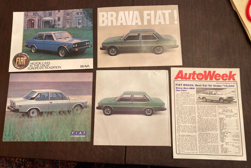 Fiat Brava 5 Piece Set Brochures Original Excellent Condition