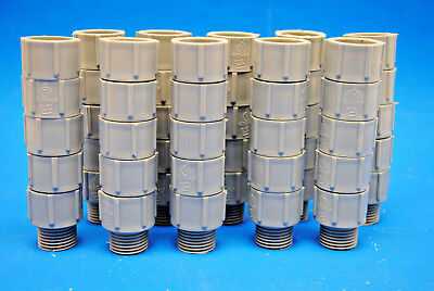 Lot Of 50 Pieces 12 Pvc Male Terminal Adapters For Electrical Pvc Conduit