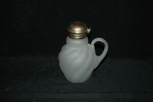 VICTORIAN NORTHWOOD EAPG FROSTED CAMPHOR PARIAN SWIRL SYRUP PITCHER 1890