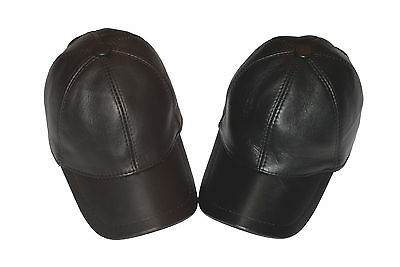 The classic leather baseball cap
