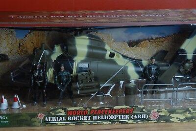 Used, 1:18 Elite World Peacekeepers GI Joe Aerial Rocket (ARH) Helicopter w/ Figures  for sale  Worcester