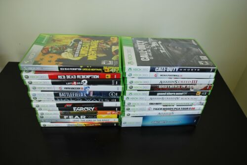 Lot of 22 Xbox 360 Games Red Dead COD Black Ops w/ Medal Assassins Creed Forza