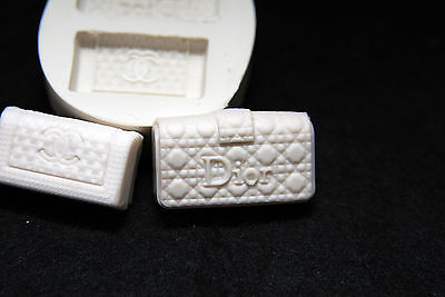 Luxury Purse, Silicone Mold Chocolate Polymer Clay Jewelry Soap Melting Wax