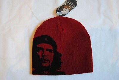 Red Classic Beanie (CHE GUEVARA CLASSIC FACE RED BEANIE SKI HAT NEW OFFICIAL CULT REVOLUTIONARY )