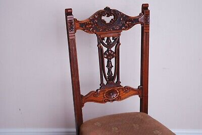 Welsh carved wooden chair with sprung base