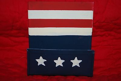 Outlaw Ironworks Stars Stripes Red White Blue Business Card Holder July 4 Flag
