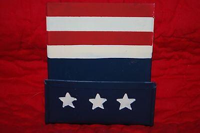 Outlaw Ironworks Stars Stripes Red White Blue Business Card Holder July 4 Flag