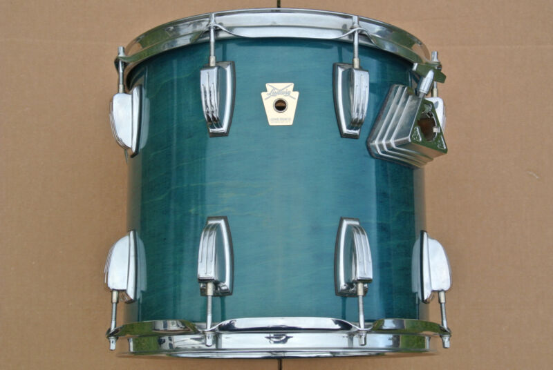 """VINTAGE LUDWIG 12"""" CLASSIC TOM in BLUE SHADOW 12X11 for YOUR DRUM SET! #D910"""