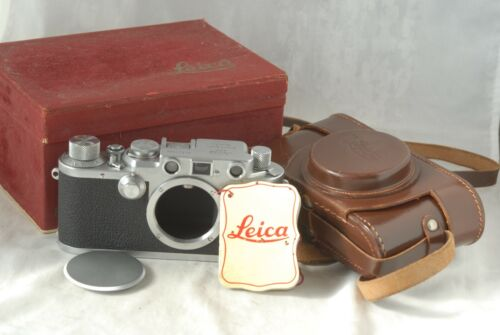 [Mint-] Leica IIIF Red Dial SM Camera #631324 Body in Box w/Leather Case