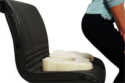 Kabooti Seat Cushion -Donut Cushion & Coccyx/Tailbone Pain Relief -  Blue Cover