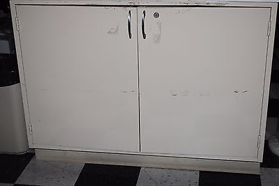 4 Laboratory Metal Cabinet Bench