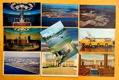 10 Postcards Logan   Municipal Airports East Boston Ma 1932 1960S Airways Chapel