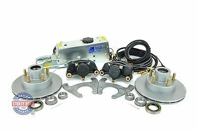 - Tie Down Eng Disc Brake Kit 9.6 in Vented Integral Single Axle w/ Actuator