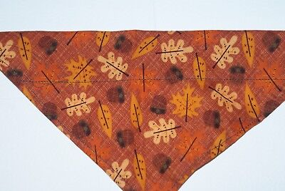 - Dog Bandana, OVER THE COLLAR,clothes, Size S,M,L,XL, Leaf Toss!