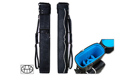 Delta 3x6 WHITE HUSTLER Case - Memory Foam - Leather Pool Cue Stick Case