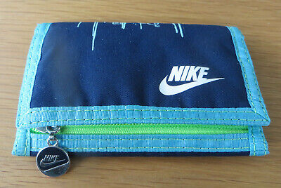 Nike Blue Bi-fold Wallet with zip coin purse