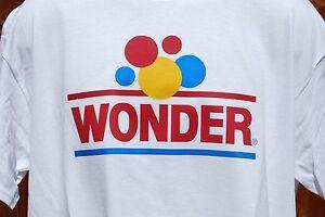 graphic retro vintage mens Gildan100% Cotton T Shirt  XL , Wonder Bread
