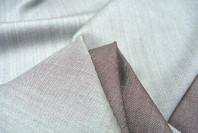 Wolle Gabardine (Pure Wolle Luxuriös Gabardine Fein Schneidern Stein & Burgundfarben Made in)