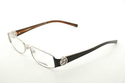 4efdda5ebd3d New Authentic Chanel 2105 c.342 Silver/Black 53mm Frames Eyeglasses RX Italy
