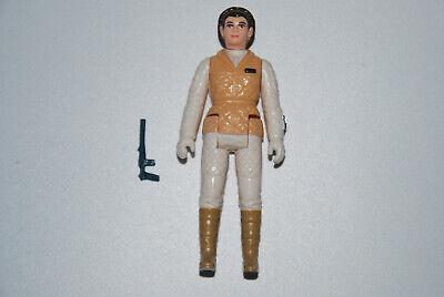 Star Wars Vintage Figur Leia Hoth C10 mit 100% original Waffe von 1980