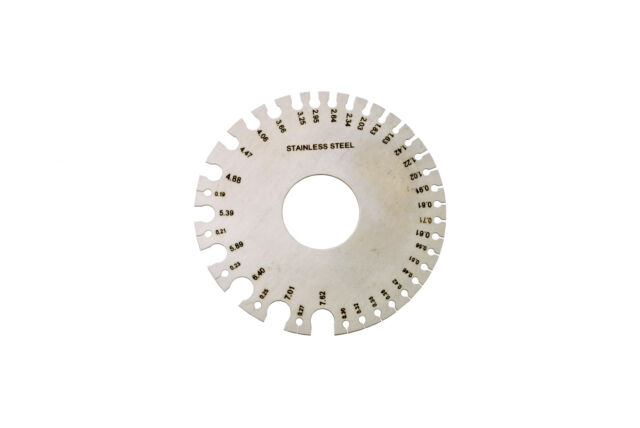 Steel round wire swg mm measuring measure gauge millimetres metal proops jewellers round wire gauge metric standard measurements 0 36 m0424 keyboard keysfo Image collections